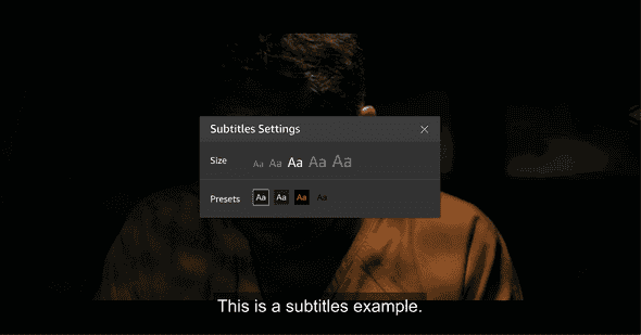 Amazon Prime Subtitle Options